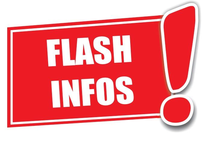 FLASH INFOS LOCALES - Lundi 06 Septembre
