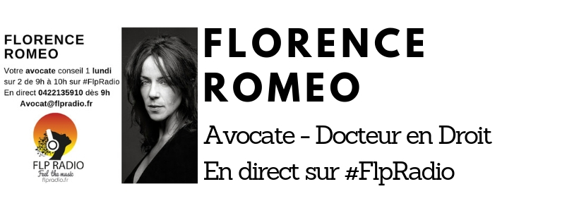 Florence Roméo Avocate Docteur en Droit Lundi 15 avril  2019